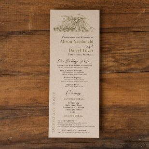 Rustic Chic Winery Flat Ceremony Programs