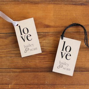 Rustic Charm Favor Tags