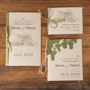 Rustic Chic Winery Ceremony Booklet