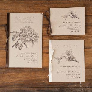 Rustic Magnolia Ceremony Booklet