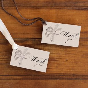 Rustic Magnolia Favor Tags
