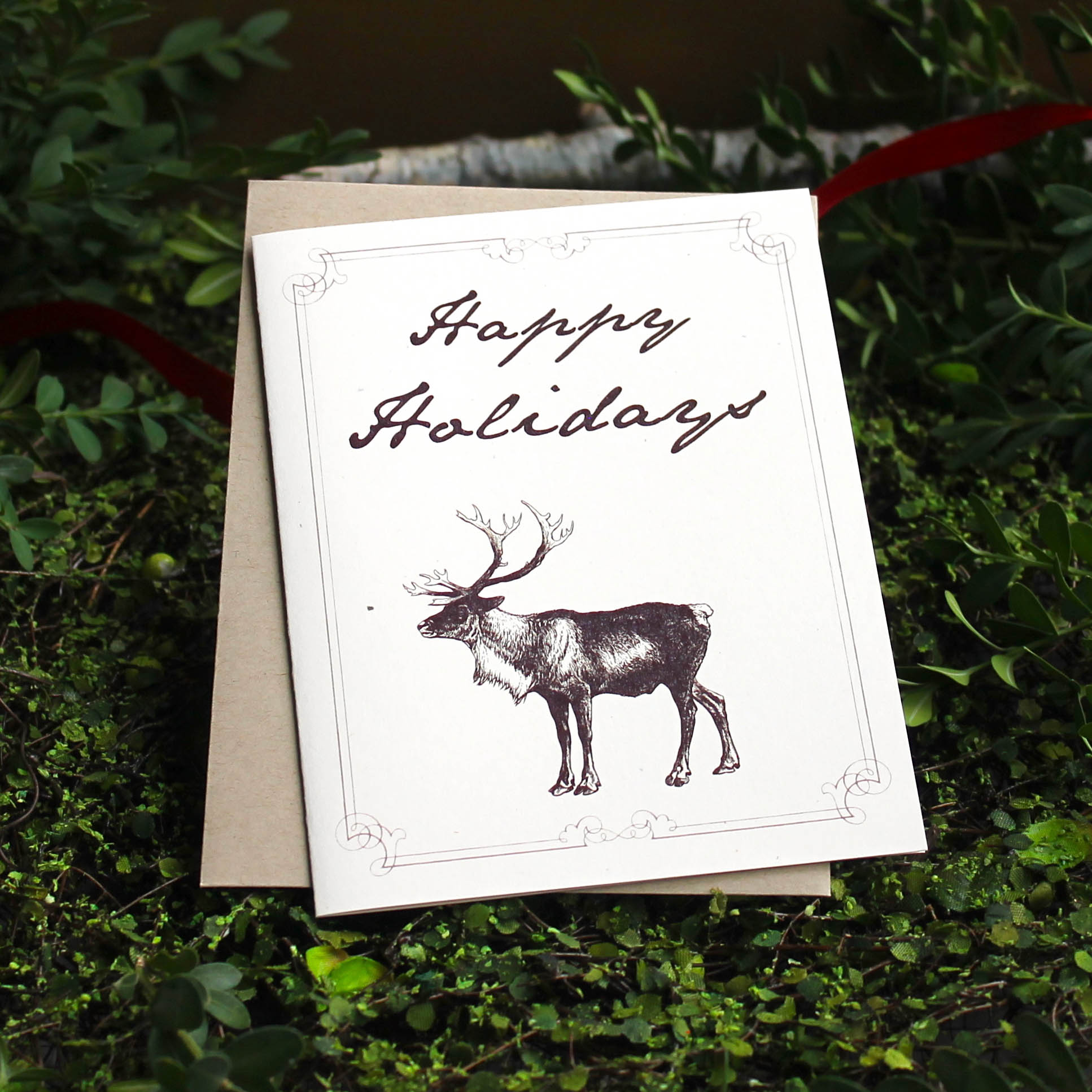 Rustic Moose Boxed Holiday Cards Beacon Lane