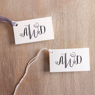 Silver & Glitter Favor Tags