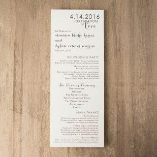 Silver & Glitter Flat Ceremony Programs