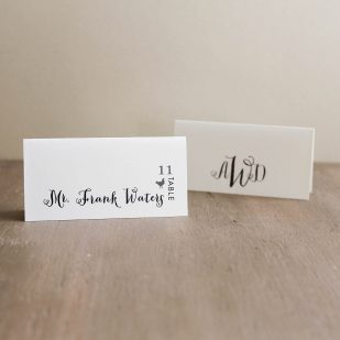 Silver & Glitter Place and Escort Cards