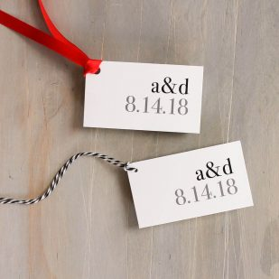 Urban Elegance Favor Tags
