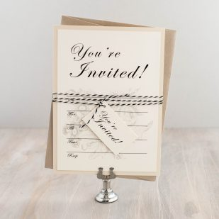 Vintage Garden Fill in the Blank Invitations