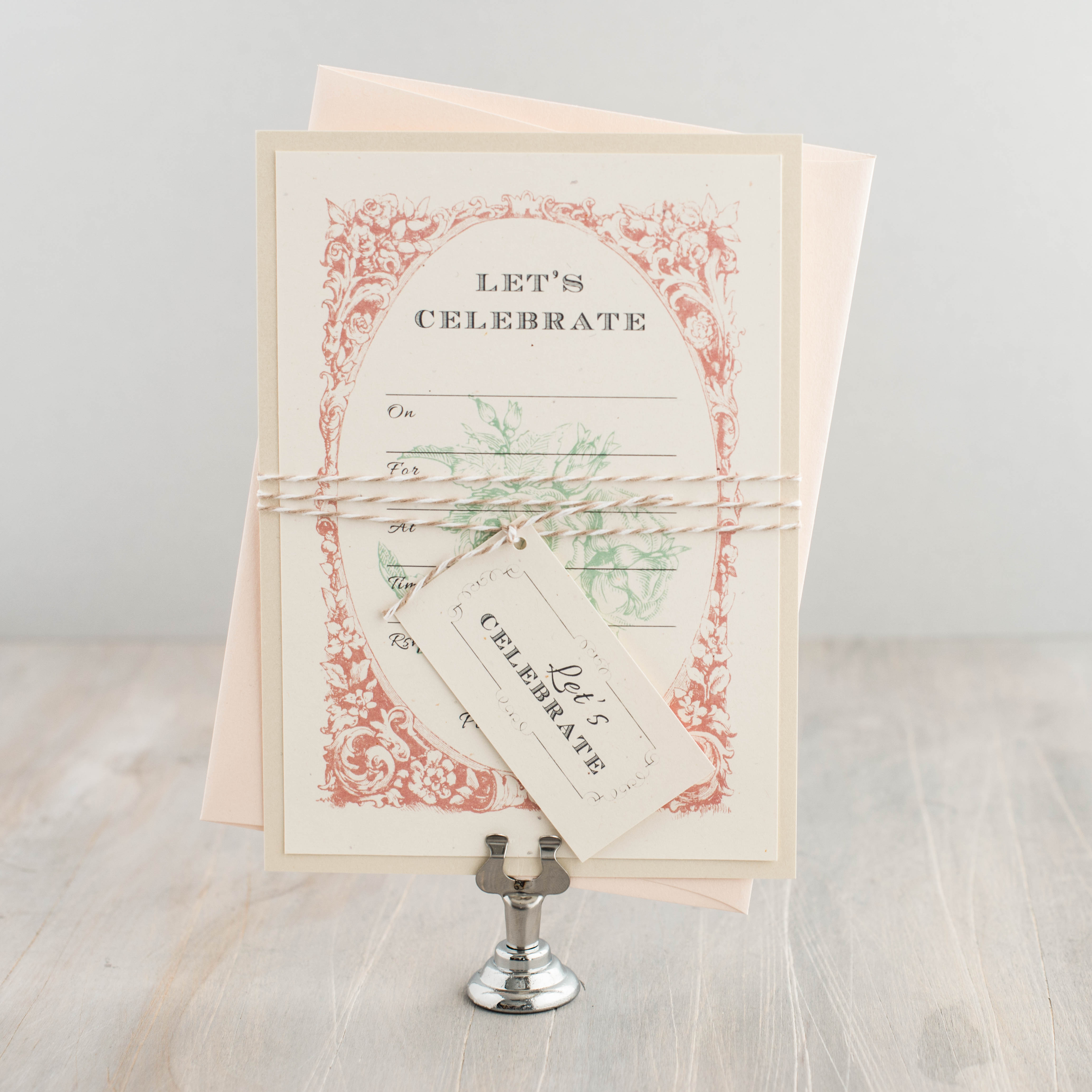 Blank Wedding Invitations: Vintage Lace Fill In The Blank Wedding Invitations