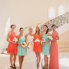 Coral & Aqua Beach Wedding Featured On Style Me Pretty