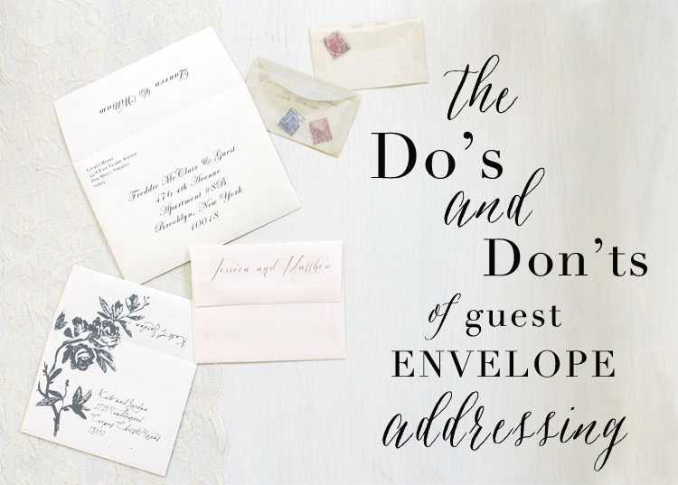 How To Write On Envelope For Wedding Invitations: How To Address Your Wedding Invites