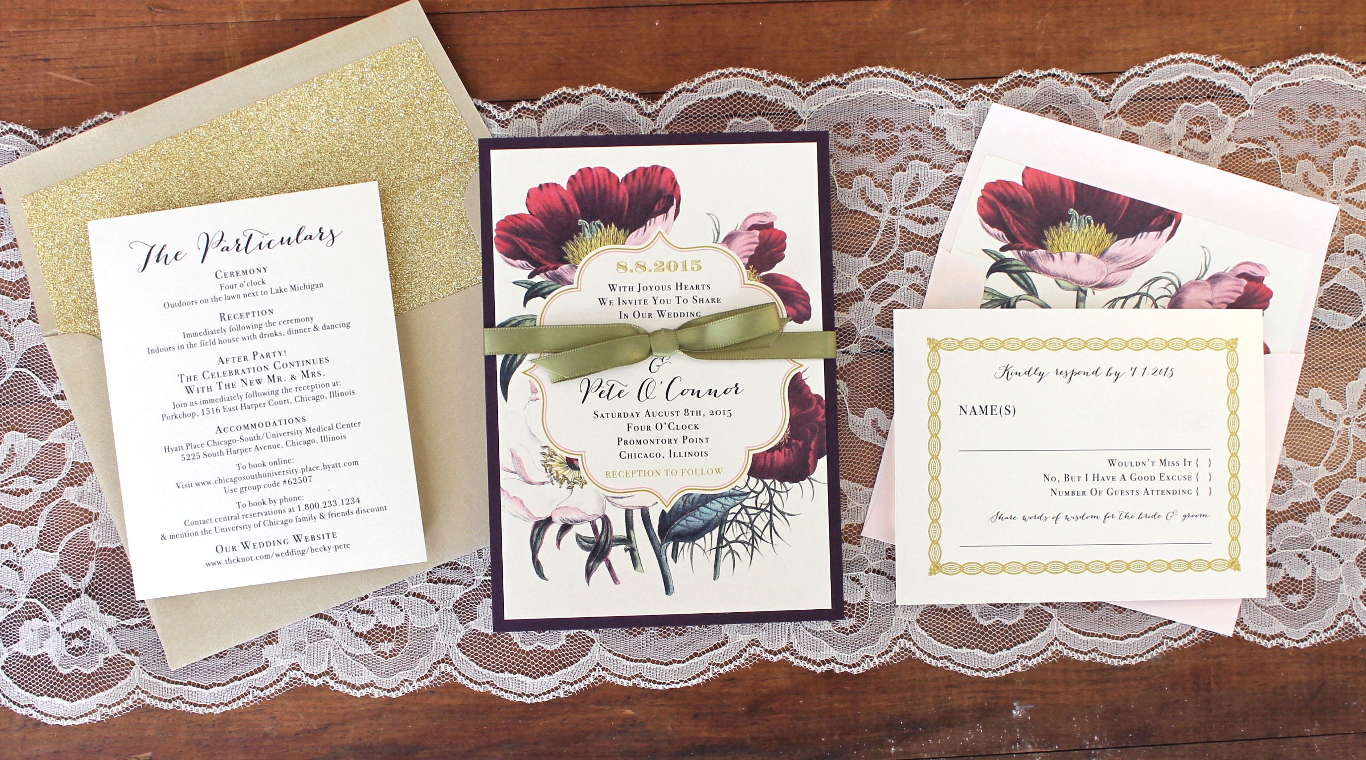 Bundled Wedding Invites By Beacon Lane