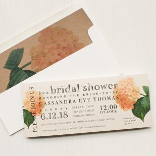 Blush Hydrangea Bridal Shower Invitations