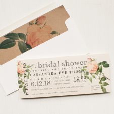 Ivory and Blush Bridal Shower Invitations