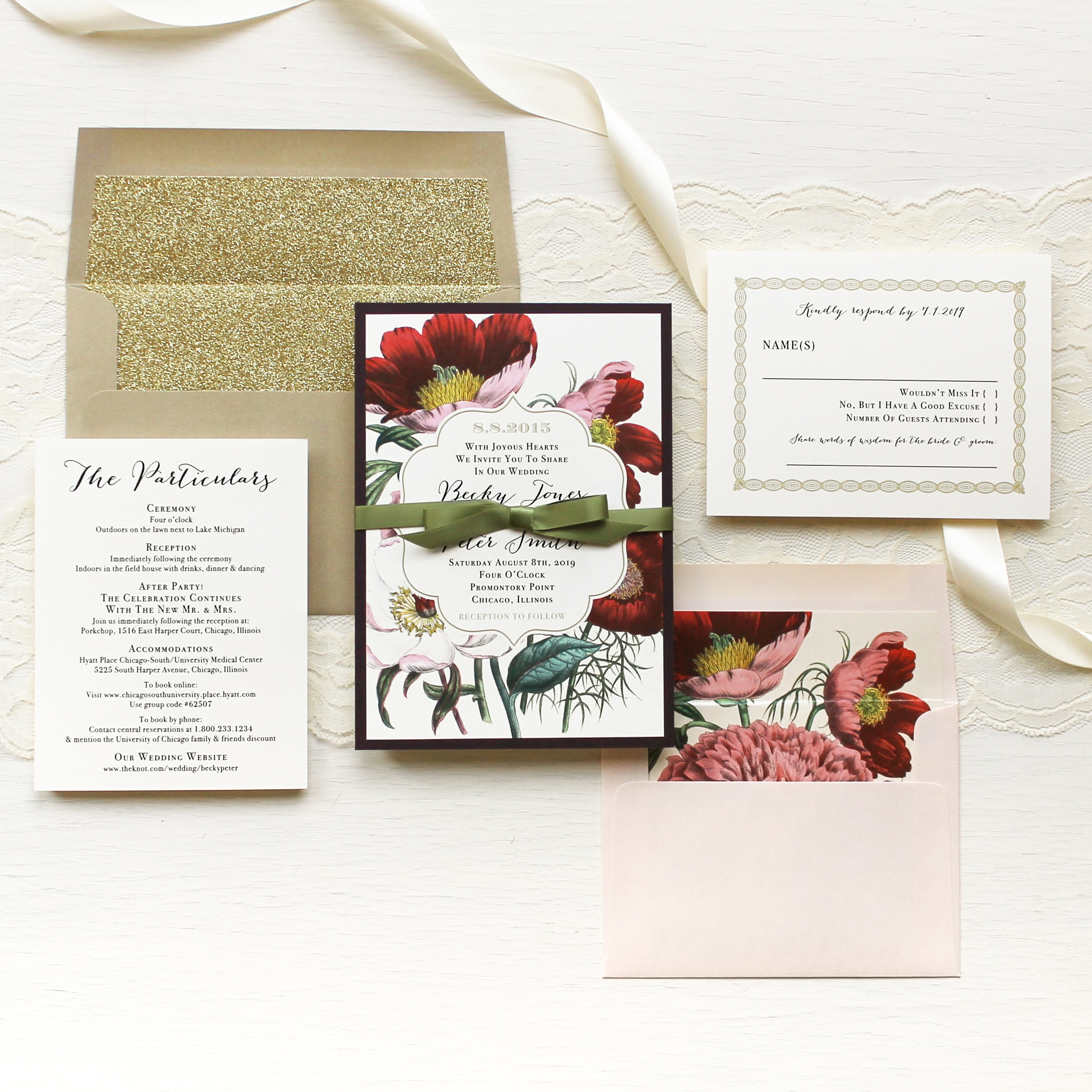 Floral Boho Customizable Modern Wedding Invitations | Beacon Lane