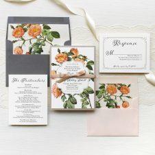 Shabby Rose Wedding Invitations