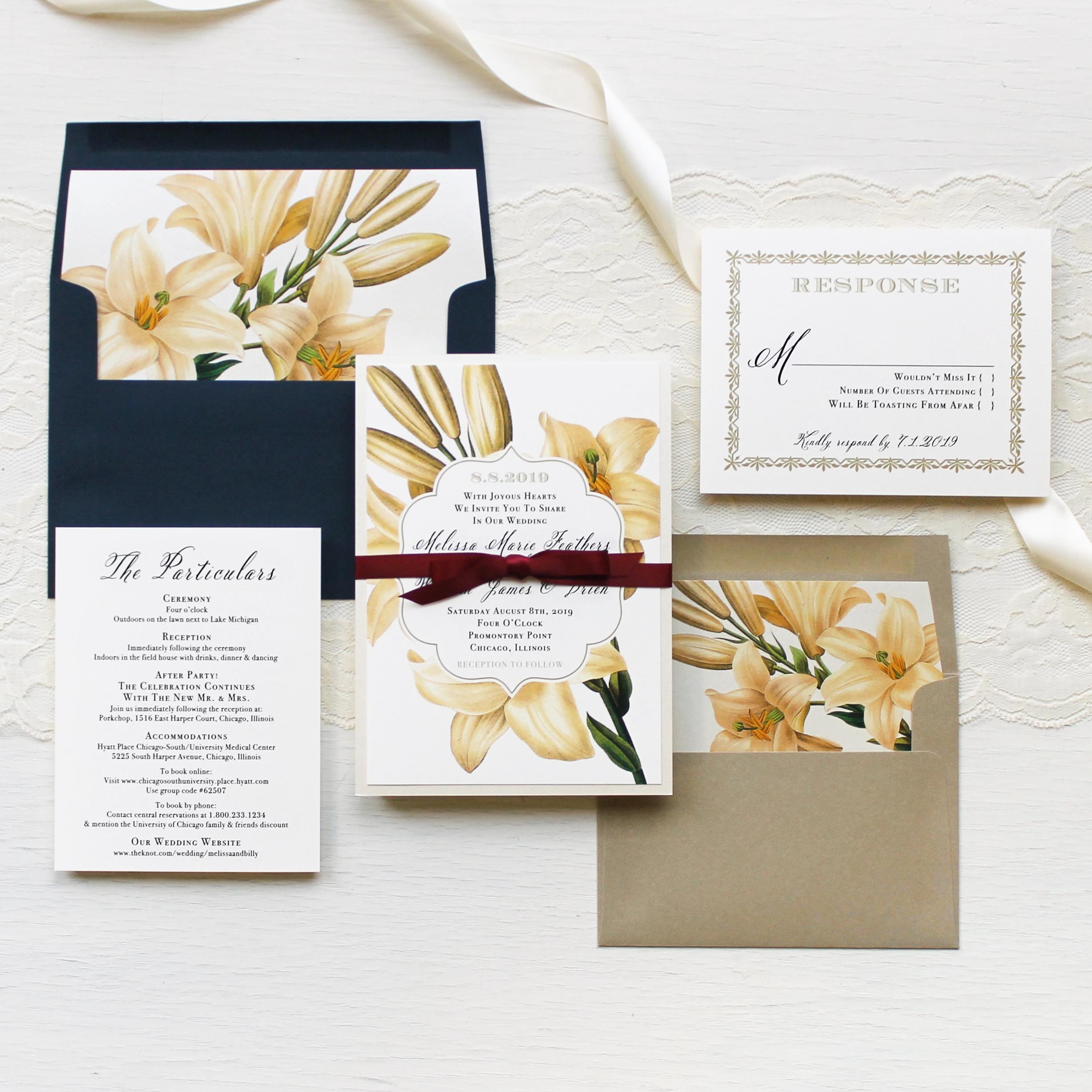 Elegant Garden Customizable Modern Wedding Invitations | Beacon Lane