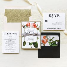 Rose Gold Glam Wedding Invitations