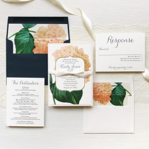 Blush Hydrangea Wedding Invitations