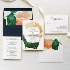 Blush Hydrangea Wedding Invitations