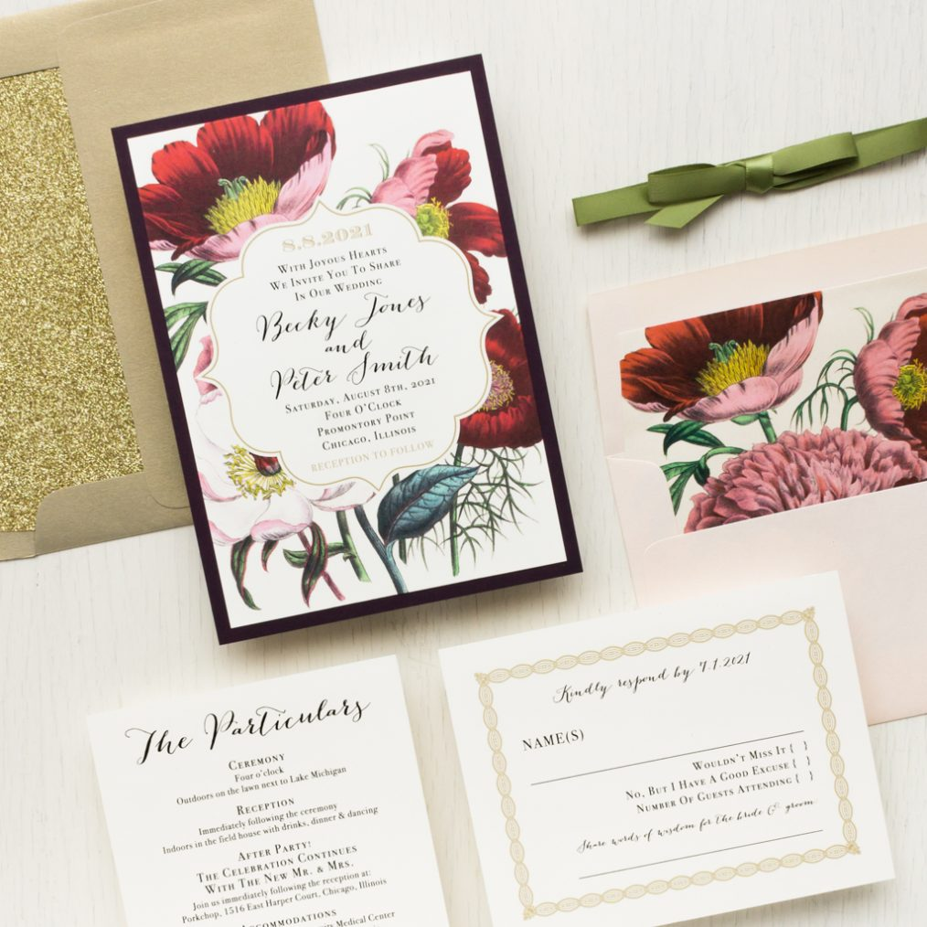 Floral Boho Wedding Invitations | Beacon Lane