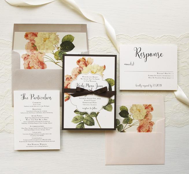 Rustic Garden Chic Customizable Modern Wedding Invitations