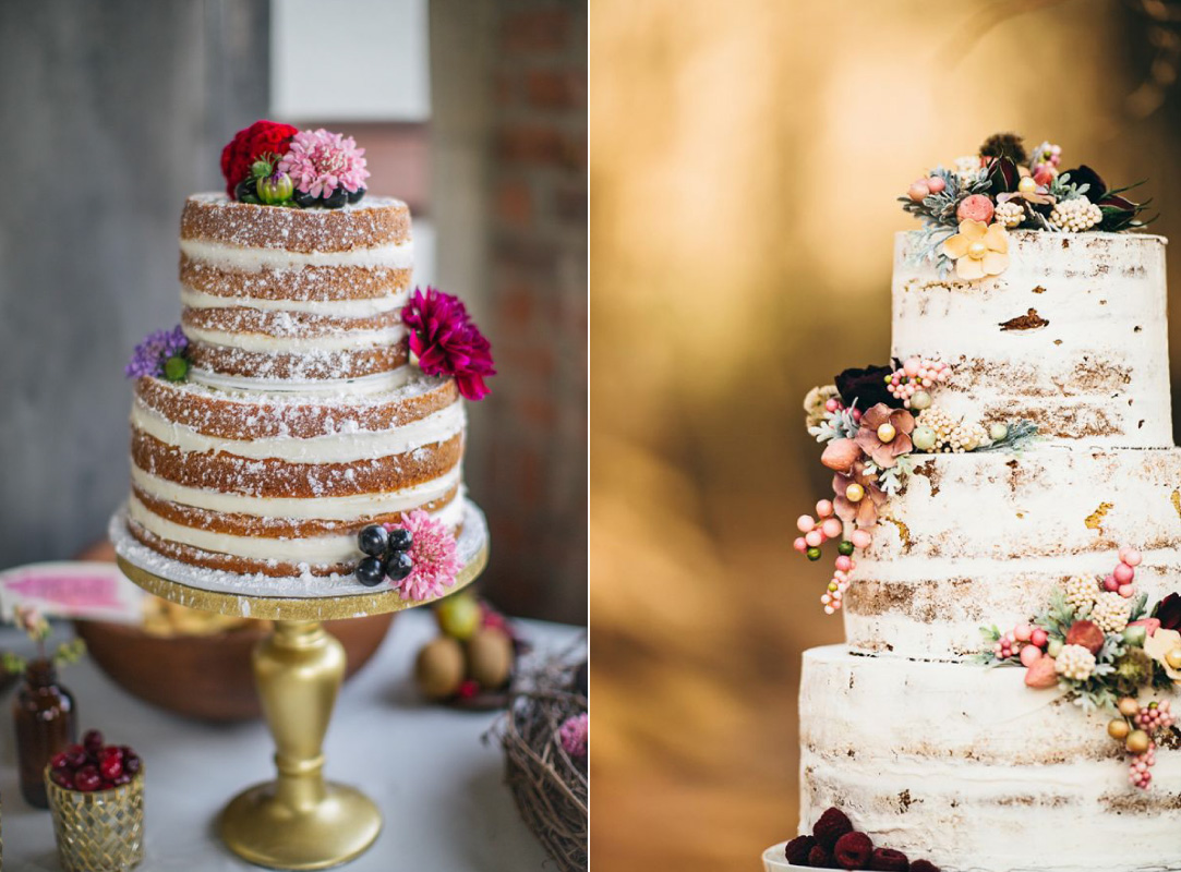 Naked Wedding Cake | Wedding Trends for 2016 by Beacon Lane