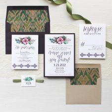 Succulent Script Wedding Invitations