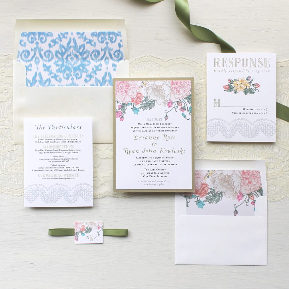 Whimsy Garden Wedding Invitations