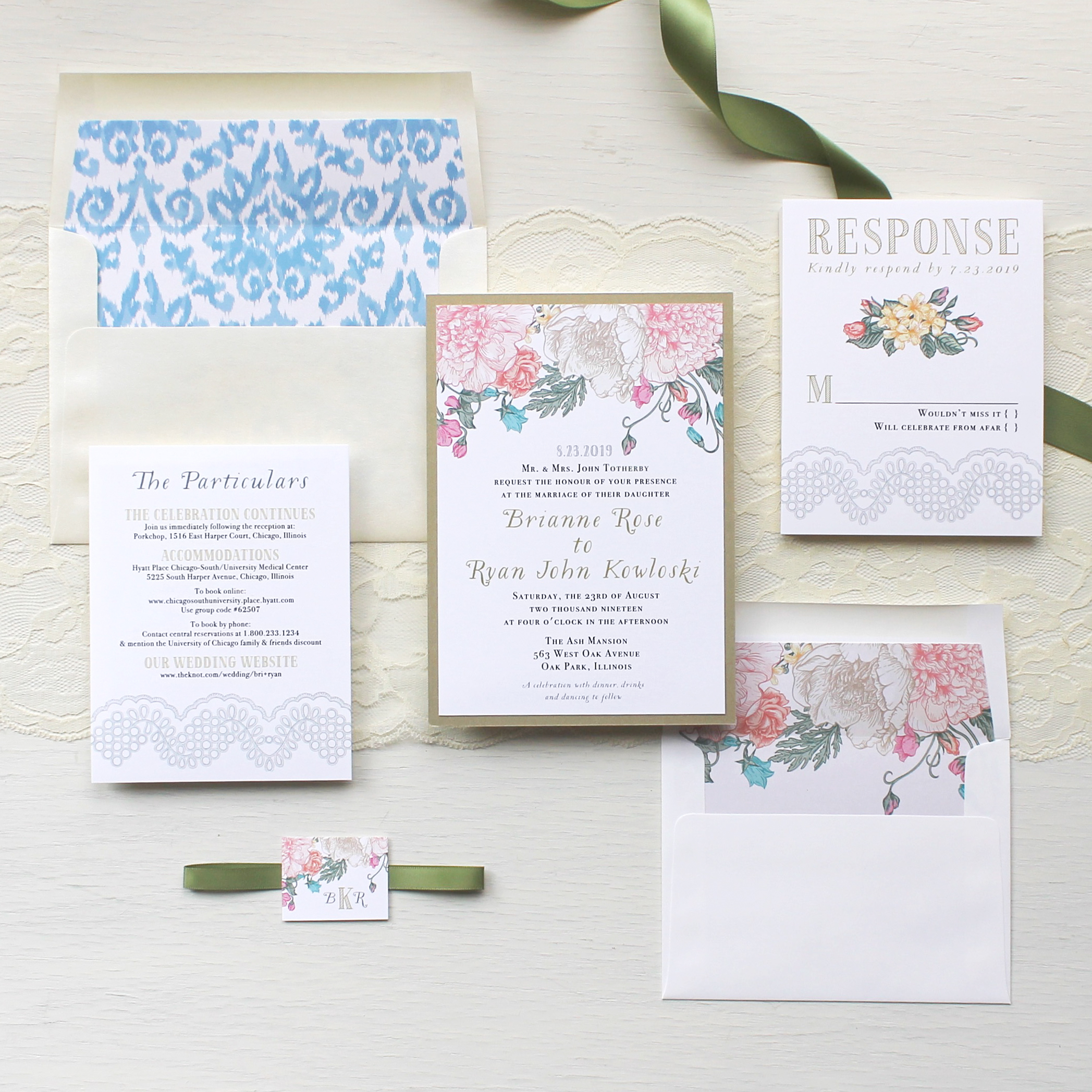 Whimsy Garden Wedding Invitations Customizable Modern Wedding ...
