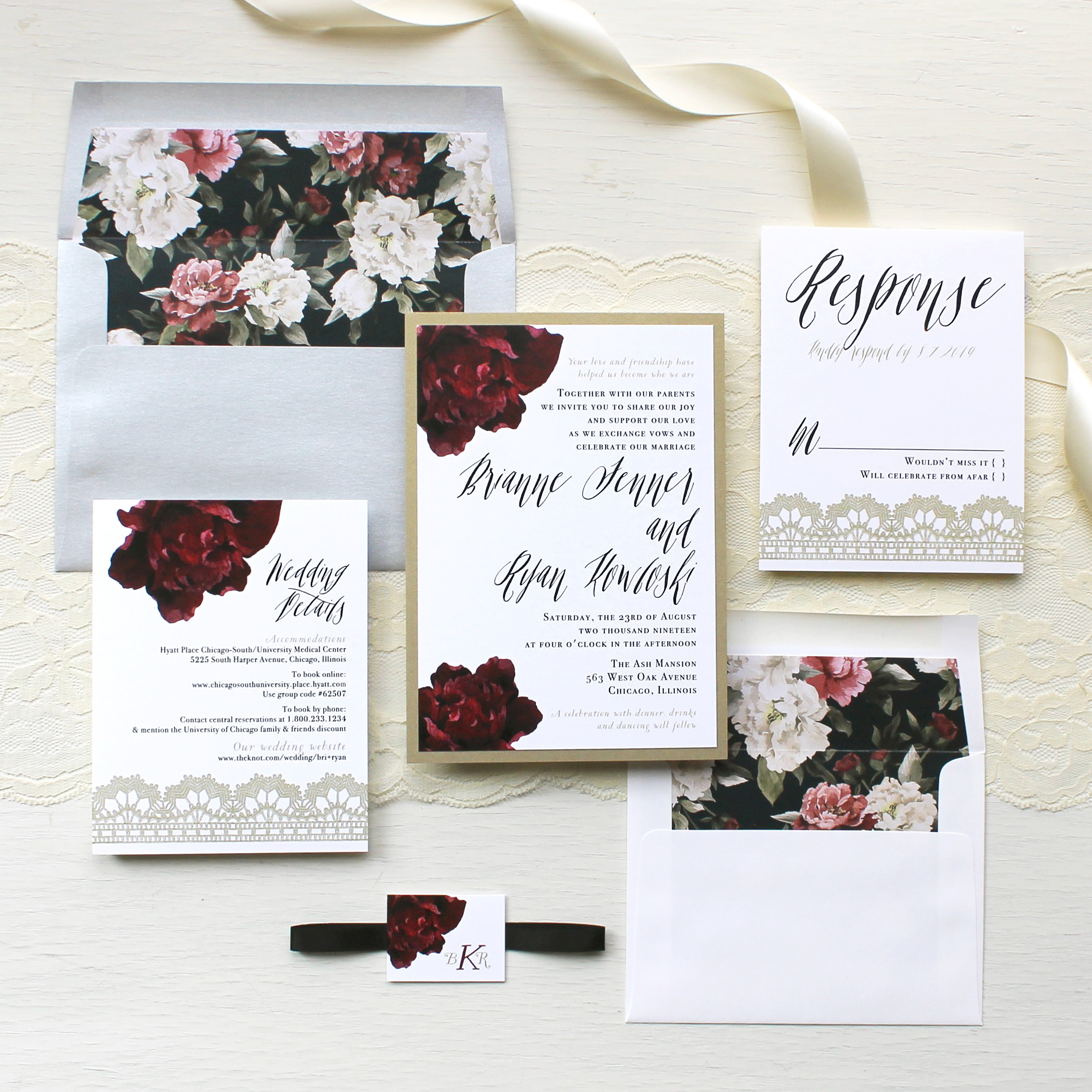 Modern Boho Wedding Invitations Customizable Modern Wedding