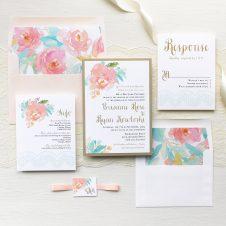 Watercolor Pastel Wedding Invitations