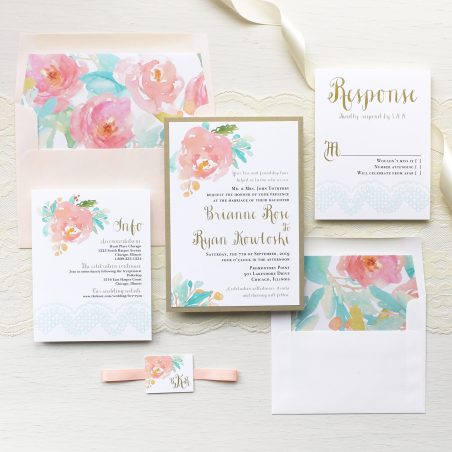 Watercolor Pastel Wedding Invitations