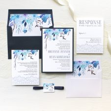 Indigo Blue Wedding Invitations