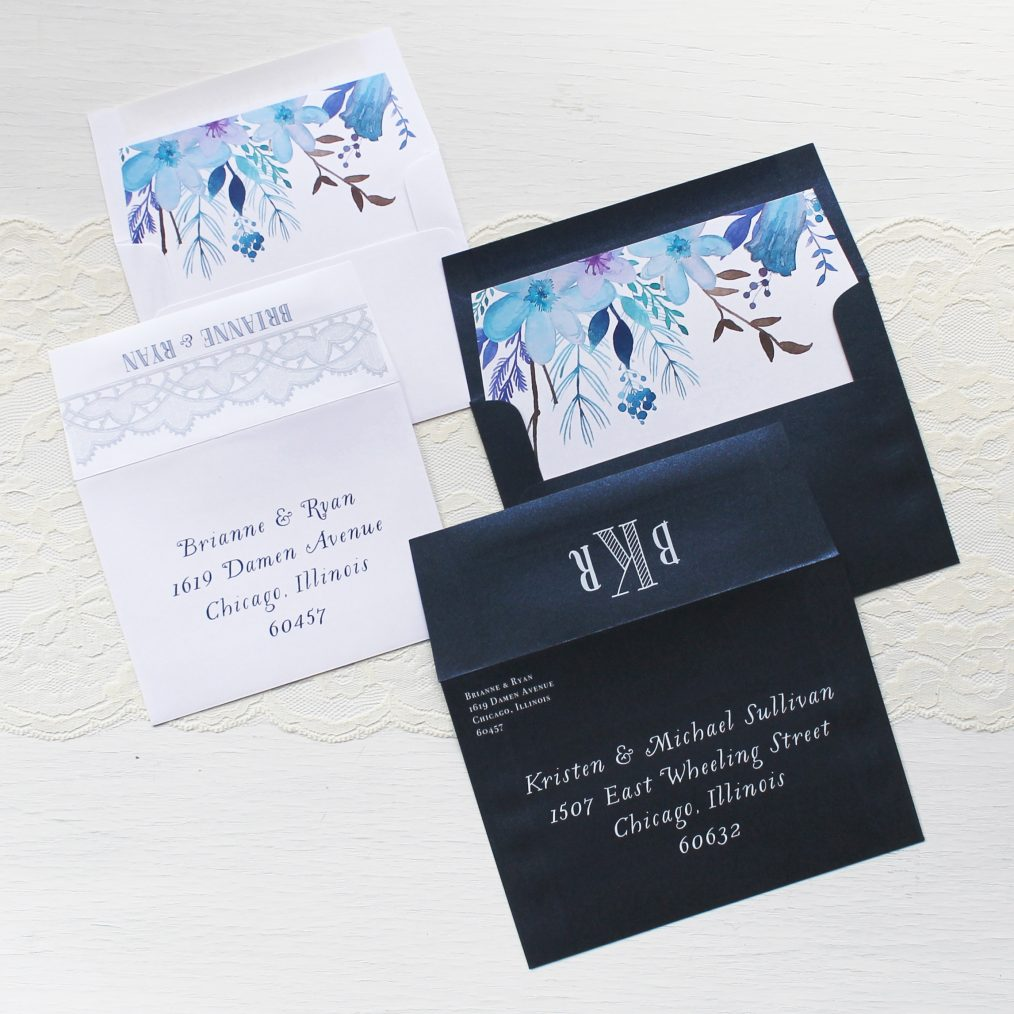 Indigo Blue Wedding Invitations