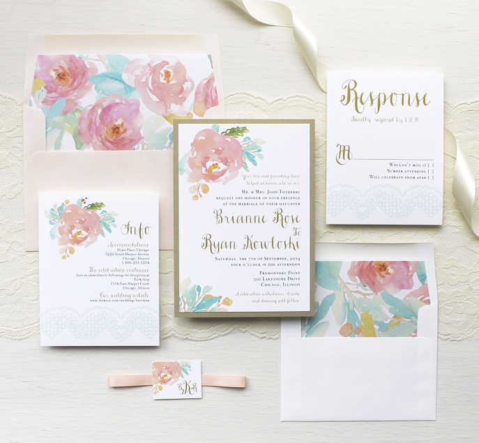 Floral Inspired Monogram Collection