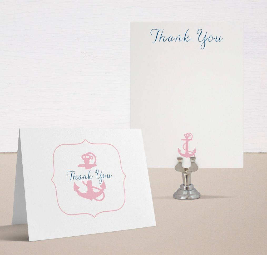 Ahoy It's A Girl Baby Shower Thank You Cards