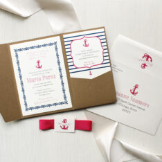 Nautical Girl Baby Shower Invitations