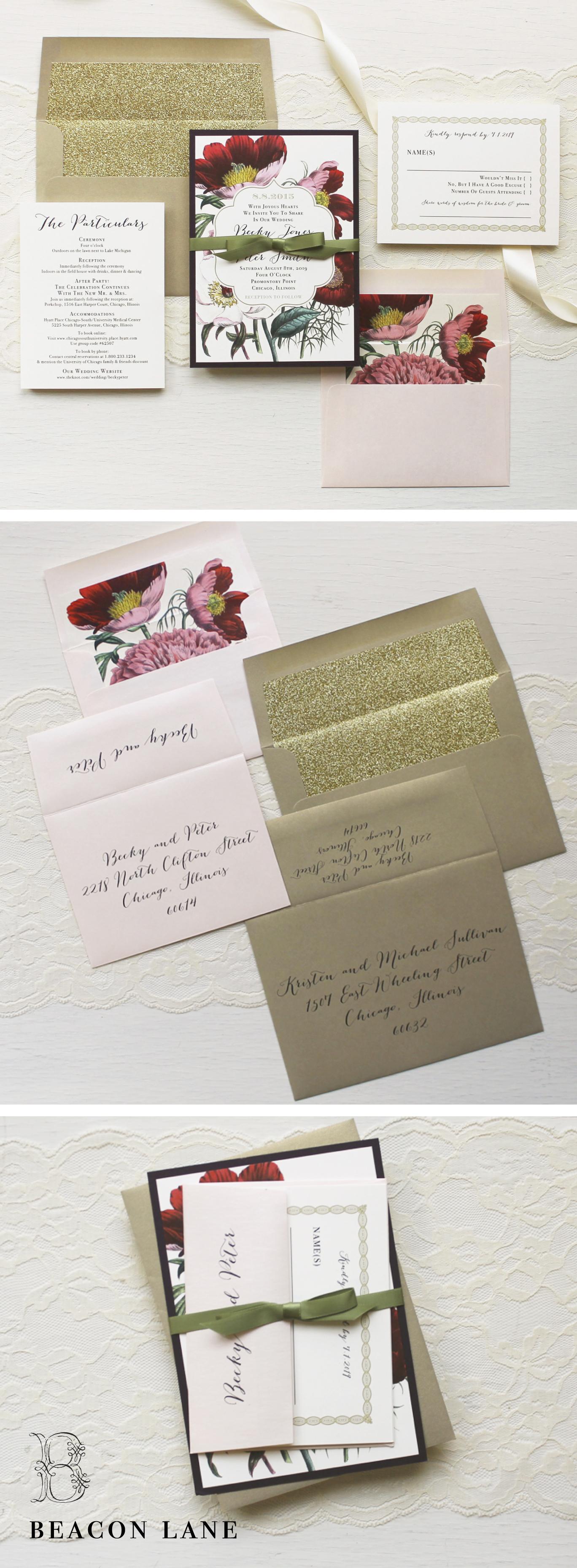 Bohemian Bride Wedding Invitations