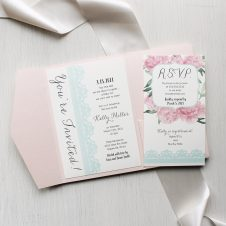 Vintage Lace Baby Shower Invitations