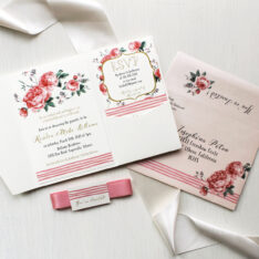 Tickled Pink Floral Baby Shower Invitations
