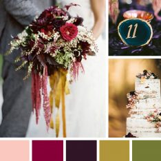 A Jewel Tone Wedding Color Palette For Fall & Winter Weddings
