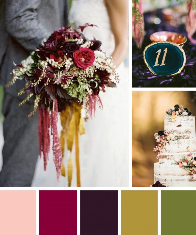 Color Ideas For Weddings: Jewel Toned Wedding Color Inspiration