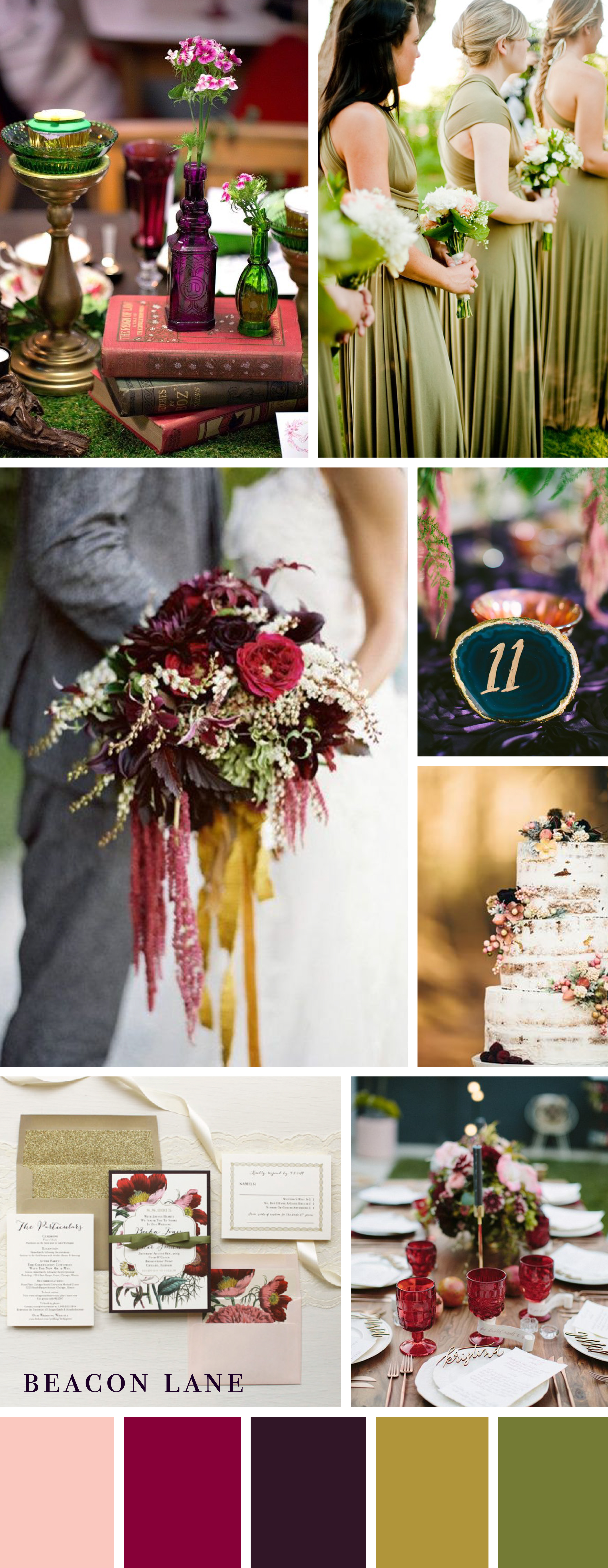 Jewel Toned Wedding Color Inspiration