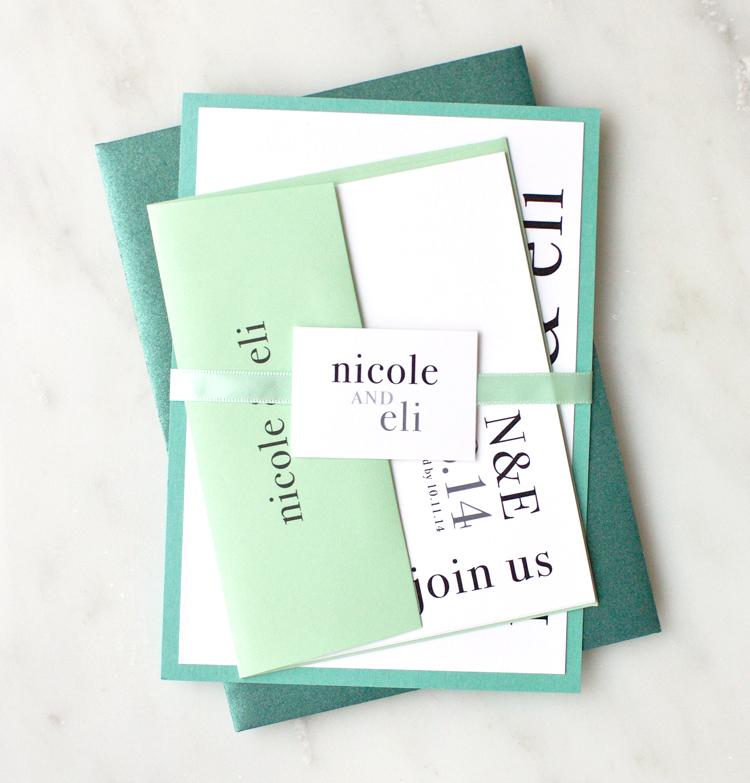 Urban Elegance Wedding Invitation Customizations