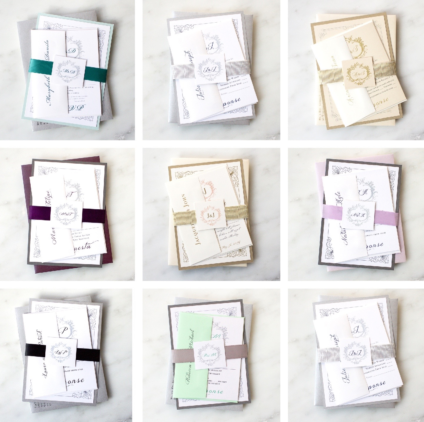 How To Choose Colors For Your Wedding Invitations   Classic Love