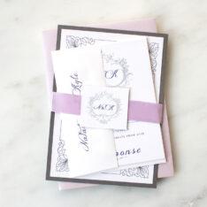 Custom Color Wedding Invitations