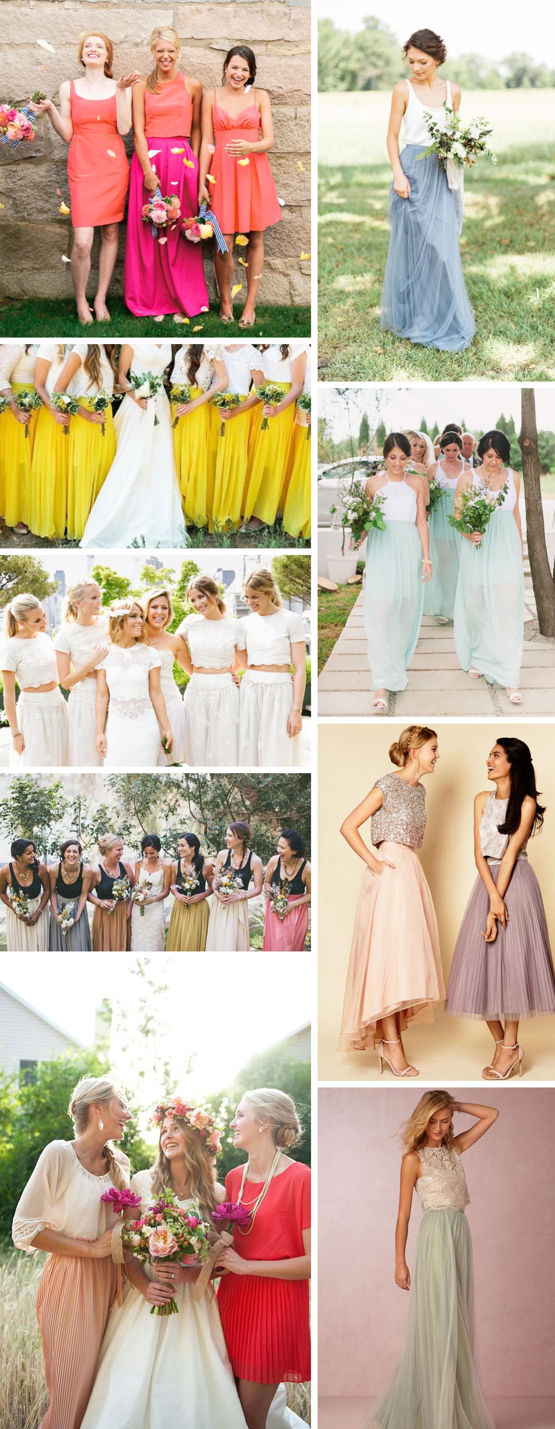 Maxi Skirt Bridesmaids Dresses