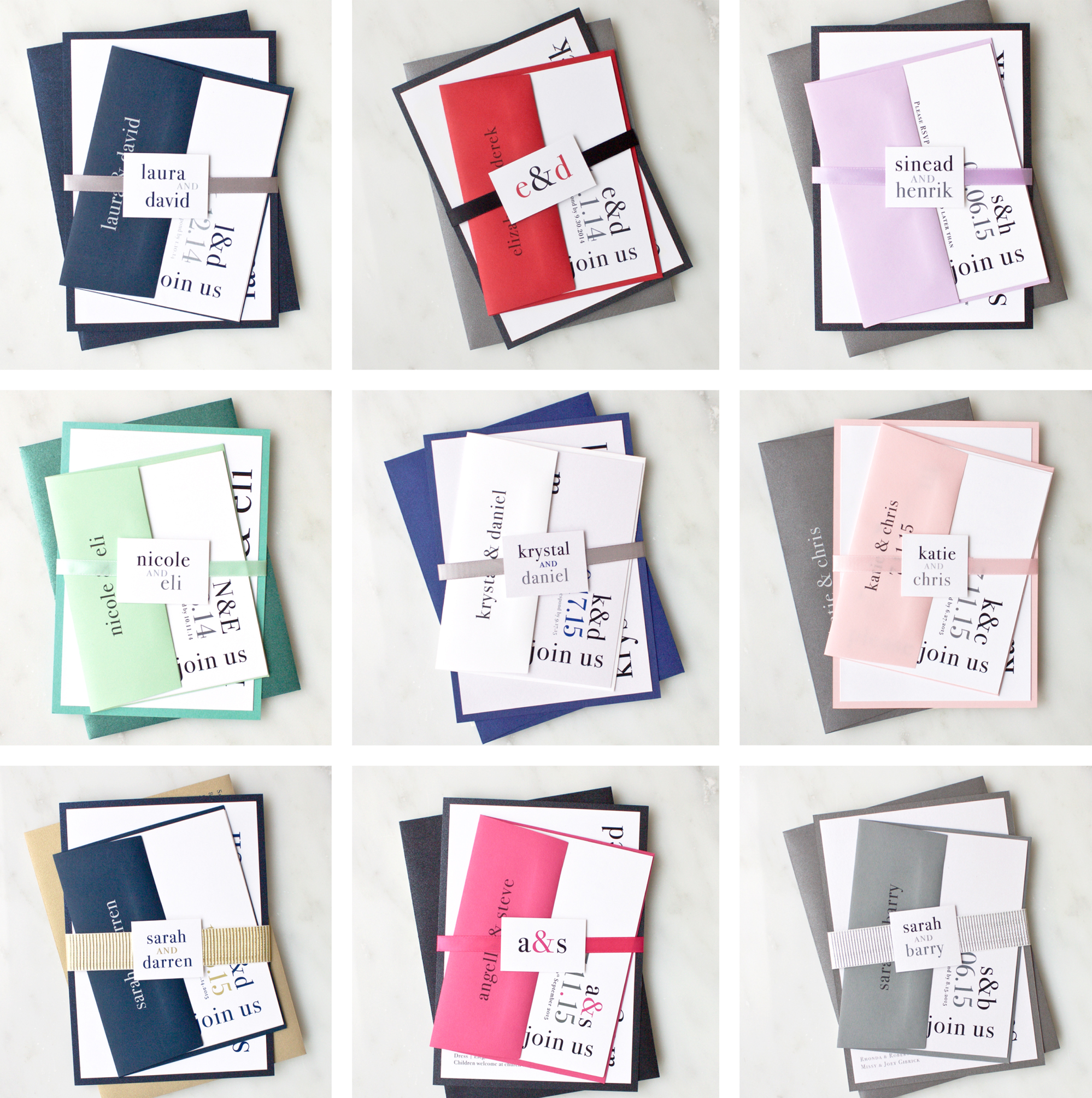 How To Choose Colors For Your Wedding Invitations | Urban Elegance