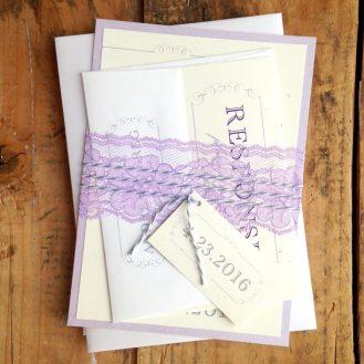 Purple Charmer Wedding Invites by Beacon Lane