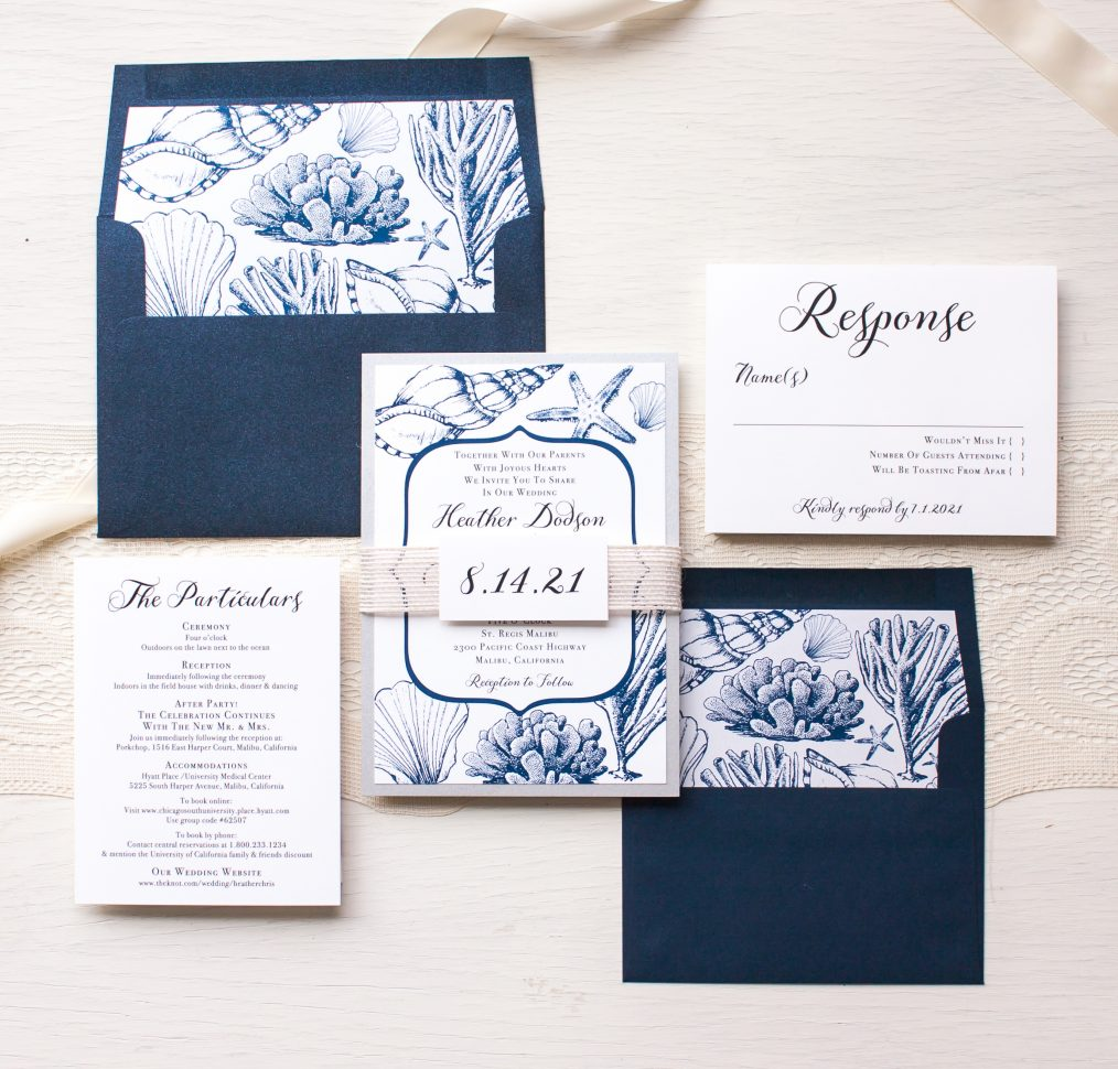 Beach Blues Wedding Invitations | Beacon Lane